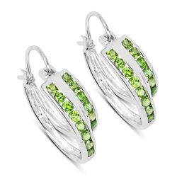 STERLING SILVER CHROME DIOPSIDE EARRINGS