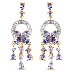 STERLING SILVER TANZANITE EARRINGS