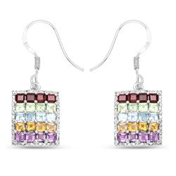 STERLING SILVER MULTI STONE EARRINGS