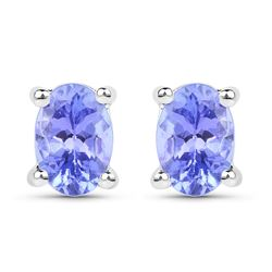 STERLING SILVER TANZANITE EARRING