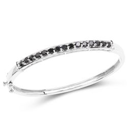 STERLING SILVER BLACK DIAMOND BRACELET