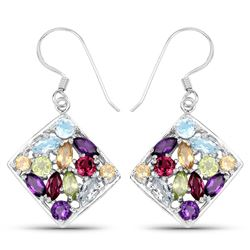 STERLING SILVER MULTI GEM EARRING