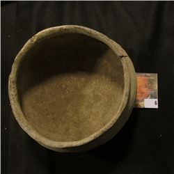 "Mississippian era Clay Bowl. Edge crack toward base. 5 1/4"" x 3 1/2"""