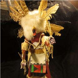 "19"" White Owl Kachina Doll Navajo by Ken B. Signed on bottom. Very attractive."