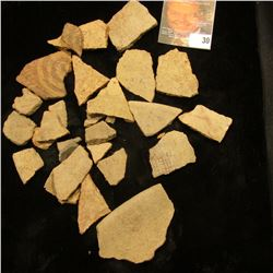 Mixed group and time period of Pre-Columbian Pottery Shards.