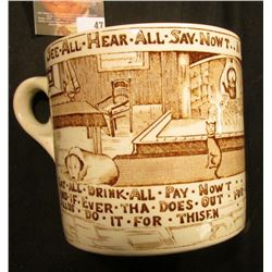 "Royal Crown Devon Fielding's Made in England large Mug ""See.All.Hear.All.Say.NowT..Yorkshireman's.Ad"