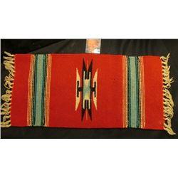 "9"" x 19"" 1930 era Navajo Woven Wool Tourist Blanket."