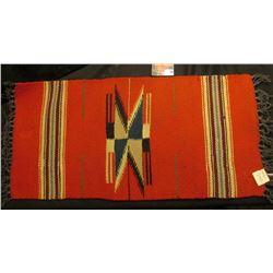 9 3/4  x 20  1930 era Navajo Woven Wool Tourist Blanket.