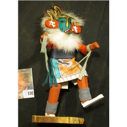 "7"" Kachina Doll autographed on bottom ""Warrior DJ"","