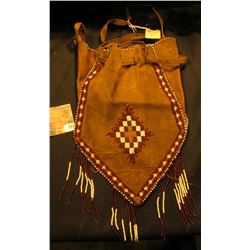 Native American Beaded Buckskinner style Leather bag. 'Doc' originally had this valued at $250.00.