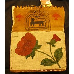 Mesquaki Indian Panther Sect Medicine Bag. 'Doc' says the Panther Sect was a secret 'organization' o