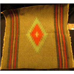 "Small Indian Woven Rug. 17 1/2"" x 18""."