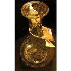 "1904 St. Louis, Mo. World's Fair Prize clear glass Whiskey Bottle with Gold lettering ""Sunny Brook T"