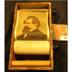 "1896-1899 Patented ""Author's Scroll Company"" device with paper roll depicting important People."