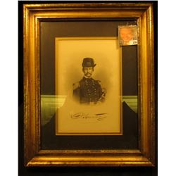 "12"" x 15"" Gold framed Steel cut engraving Print of ""Maj. Gen. David Hunter"", very attractive."