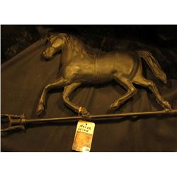 "Metal Horse Wind Vane. 10"" x 33"". 'Doc' had this priced at $275 firm."