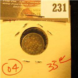 Canada 1872 H 5 Cent Silver. F.