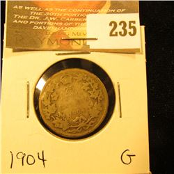 Canada 1904 25 Cents. G