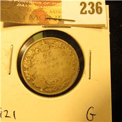 Canada 1921 25 Cents. G