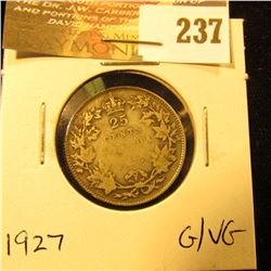 Canada 1927 25 Cents. G-VG.
