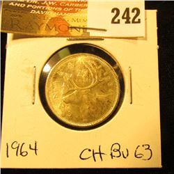 Canada 1964 25 Cents. Choice BU-63.