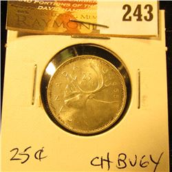 Canada 1965 25 Cents. Choice BU-64.