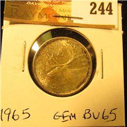 Canada 1965 25 Cents. Gem BU-65.