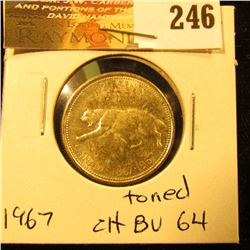 Canada 1967 25 Cents. Choice Toned BU-64.