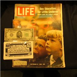 "Sept. 19, 1969 ""LIFE"" Magazine  article Sex Education for Little Children Debate splits the nation's"