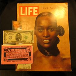 "Oct. 17, 1969 ""LIFE"" Magazine (article Stop Fashion Model Naomi Sims); Series 1934B $5 Federal Reser"