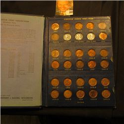 1941-61 Partial Set of Lincoln Cents in a blue Whitman Album. Several high grades.