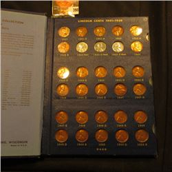 1941-62 Partial Set of Lincoln Cents in a blue Whitman Album. Several high grades.