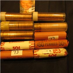 (10) Solid Date Rolls of Lincoln Cents, includes: 1919P, 39P, 41P, 45P, 52D, 58P (BU), 59D (BU), 61P