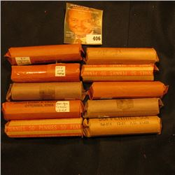 (10) Rolls of old U.S. Wheat Cents. I will leave it to you to check the dates, wrappers may not be w