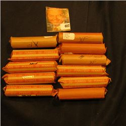 (11) Rolls of old U.S. Wheat Cents. I will leave it to you to check the dates, wrappers may not be w