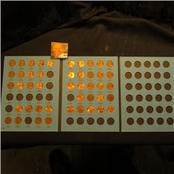 1975-1999 Partial Set of Lincoln Cents in a blue Whitman folder. Some high grades included.