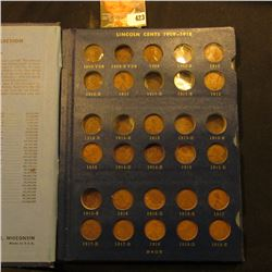 1909-40S Partial Set of Lincoln Cents in a blue Whitman Album. Includes 1909 P, P VDB, 10 P, 11 P, 1