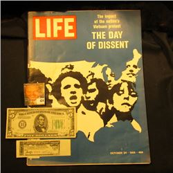 "October 24, 1969 ""LIFE"" with article ""The impact of the nation's Vietnam protest The Day of Dissent"""