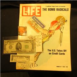 "March 27, 1970 ""LIFE"" with articles ""A Political fringe turns to terrorism THE BOMB RADICALS"" & ""The"