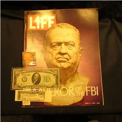 "April 9, 1971 ""LIFE"" with article ""The 47-Year reign of J. Edgar Hoover Emperor of the FBI""; Series"