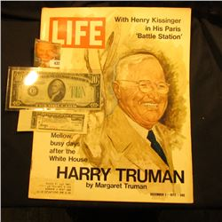 "December 1, 1972 ""LIFE"" with articles ""With Henry Kissinger in His Paris 'Battle Station'"" & ""Mellow"