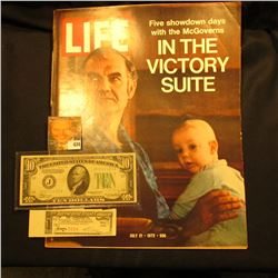 "July 21, 1972 ""LIFE"" with article ""Five Showdown days with the Mc Governs in the Victory Suite""; Ser"