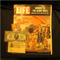 "February 27, 1970 ""LIFE"" with article ""Goodby to the Glory Days Hollywood puts its past up for sale"""