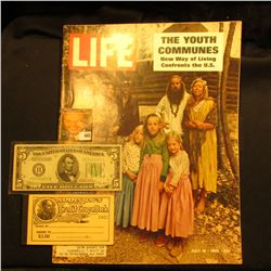 "July 18, 1969 ""LIFE"" Magazine with article ""The Youth Communes New Way of Living Confronts the U.S."""