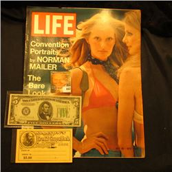 "July 28, 1972 ""LIFE"" Magazine with articles ""Convention Portraits by Norman Mailer"" & ""The Bare Look"