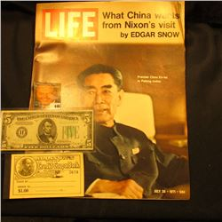 "July 31, 1971 ""LIFE"" Magazine with article ""What China wants from Nixon's Visit by Edgar Snow""; Seri"