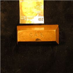 "Copper Ingot stamped on top ""C.A.S."""