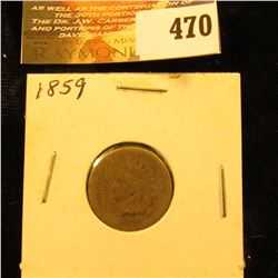 1859 Indian Head Cent. AG.