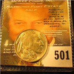 1938 D Buffalo Nickel, Uncirculated.