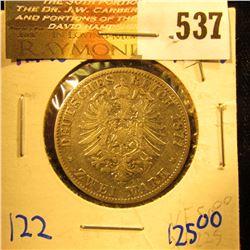 German States/Hamburg 1877-J Two Mark Coin